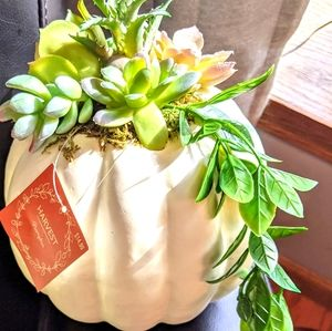 Autumn faux succulent arrangement